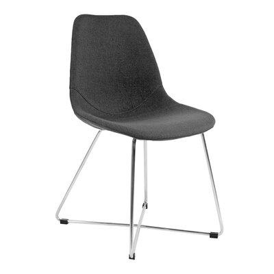 Wool Side Chair Upholstery: Dark Gray, Finish: Stainless Steel