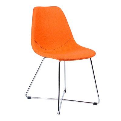 Wool Side Chair Finish: Chrome, Upholstery: Orange