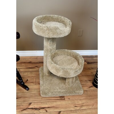 32 Prestige Solid Wood Large Cat Tree Color: Brown
