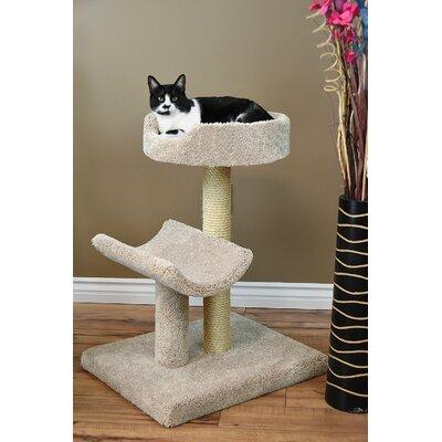 33 Prestige Kitty Condo Cat Tree Color: Beige