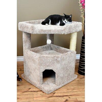 33 Prestige Solid Wood Condo Mansion Cat Tree Color: Beige