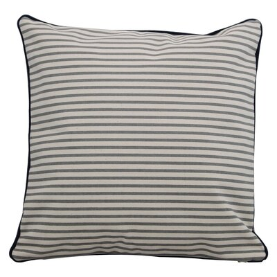 Finke Stripes Throw Pillow Size: Large, Color: Navy