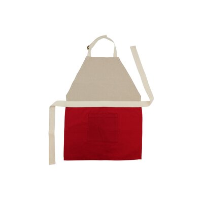 Jute Cotton Children's Apron Color: Red
