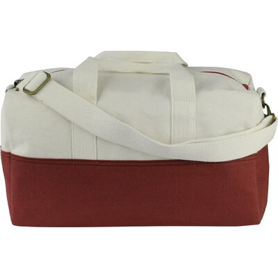 "10.5"" Duffel Bag Color: Brick Red"