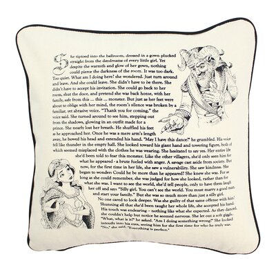 Fantasy Love Story Edition Indoor/Outdoor Cotton Throw Pillow Size: 16 H x 16 W