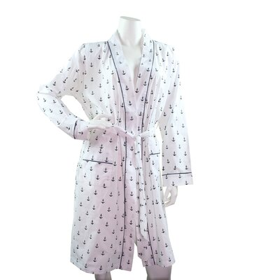 Cotton Bathrobe Size: Large, Color: White