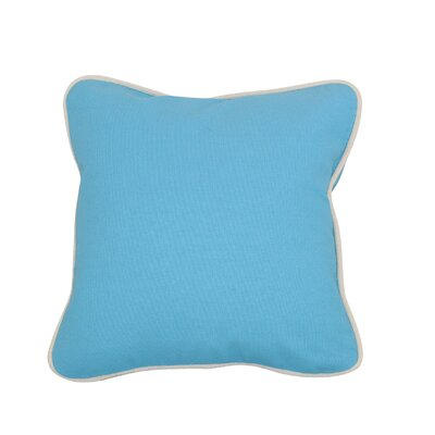 Indoor/Outdoor Throw Pillow Size: 16 H x 16 W, Color: Baby Blue