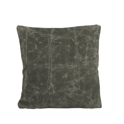 Waxed Canvas Pillow Indoor/Outdoor Throw Pillow Size: 20 H x 20 W, Color: Slate