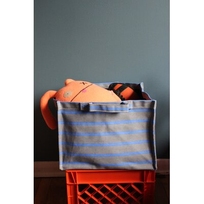 Sailor Striped Square Laundry Hamper