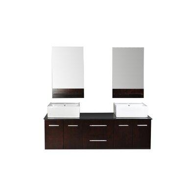 Skyline 72 Double Bathroom Vanity Set with Mirrors