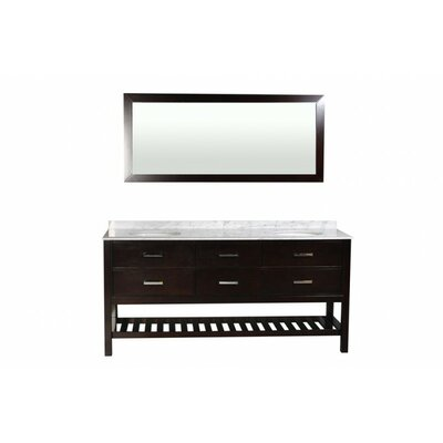 Nautica 72 Double Bathroom Vanity Set with Mirror