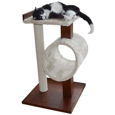 Modern Cat Activity Tree & Scratching Post