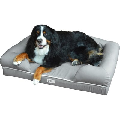 Ultimate Lounge Premium Edition Dog Bed with Solid Memory Foam Size: Extra Large (10H x 34W x 44L)