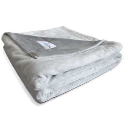 Premium Reversible Gray Micro Plush Pet Blanket Size: Extra large (53 L x 41 W)