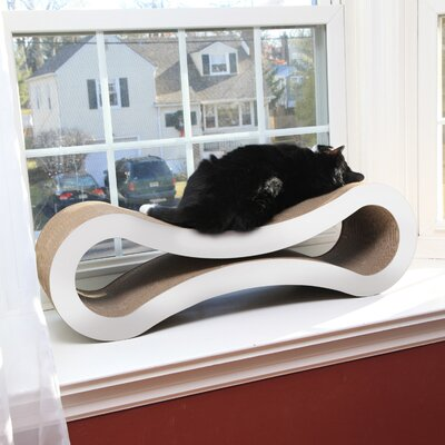 Freddie Ultimate Cat Scratcher Lounge & Bed Color: Cloud White