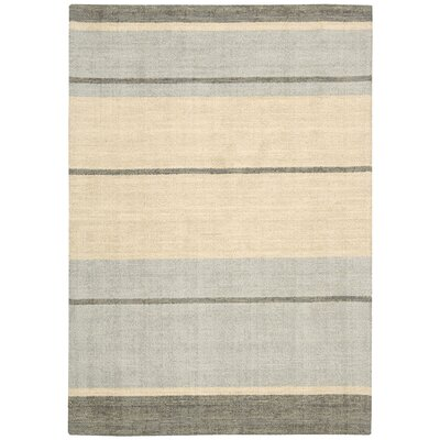 Tundra Hand-Woven Beige/Gray Area Rug Rug Size: Rectangle 53 x 75