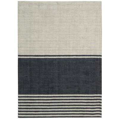 Tundra Hand-Woven Beige/Gray Area Rug Rug Size: Rectangle 5'3