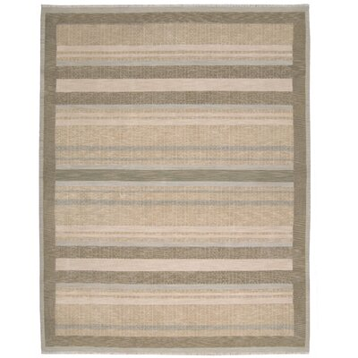Field Beige/Brown Area Rug Rug Size: 7'9
