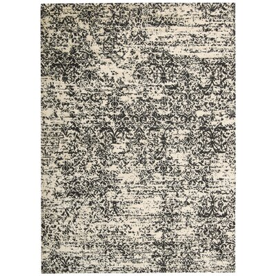 Maya Hand-Woven Beige/Gray Area Rug Rug Size: Rectangle 93 x 129