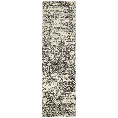 Maya Hand-Woven Beige/Gray Area Rug Rug Size: Runner 23 x 8
