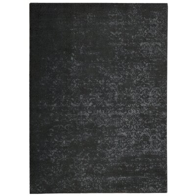 Maya Labradorite Hand Woven Wool Black Area Rug Rug Size: Rectangle 76 x 106