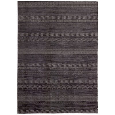 Maya Hand Woven Wool Delta Wineberry Area Rug Rug Size: Rectangle 76 x 106