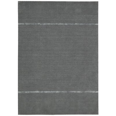 Vale Hand-Loomed Gray Area Rug Rug Size: Rectangle 53 x 75