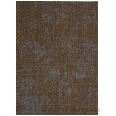 Urban Abstract Brown Bark/Cobalt Area Rug