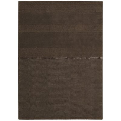 Vale Hand-Loomed Gray Area Rug Rug Size: Rectangle 4 x 6