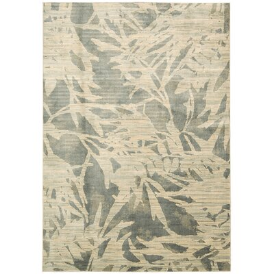 Maya Borneo Zinc Area Rug Rug Size: Rectangle 53 x 75