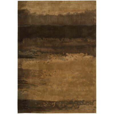 Luster Wash Hand Woven Wool Amber Wash Copper Area Rug Rug Size: Rectangle 56 x 8