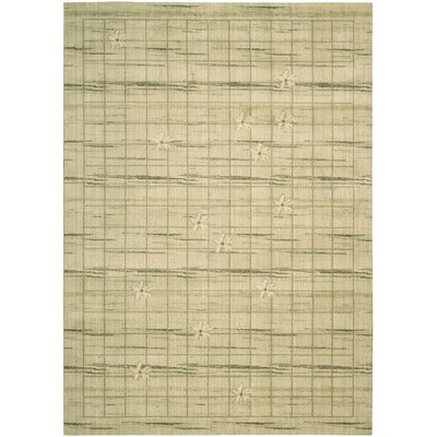 Woven Textures Scattered Blossom Natural Area Rug Rug Size: Rectangle 19 x 29