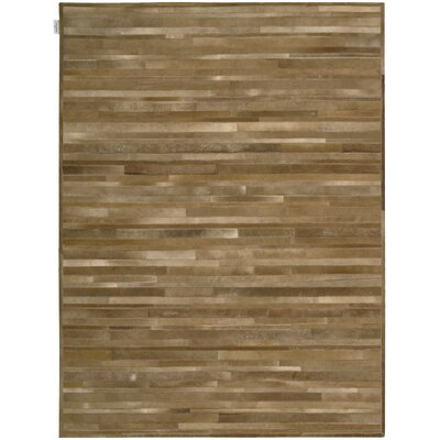 Prairie Hand-Woven Amber Area Rug Rug Size: Rectangle 56 x 75