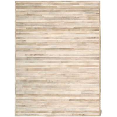 Prairie Hand-Woven Palomino Beige Area Rug Rug Size: Rectangle 56 x 75