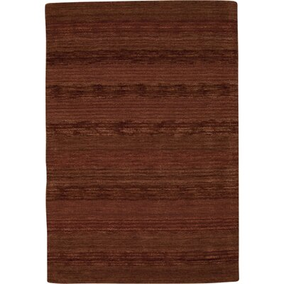 Longview Hand-Loomed Meadow Claret Area Rug Rug Size: 4 x 6