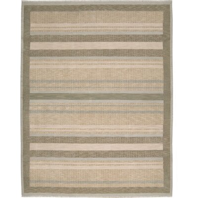 Field Beige/Brown Area Rug Rug Size: 3'10