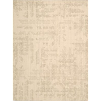 Urban Linen Flower Biscuit Area Rug Rug Size: Rectangle 53 x 75