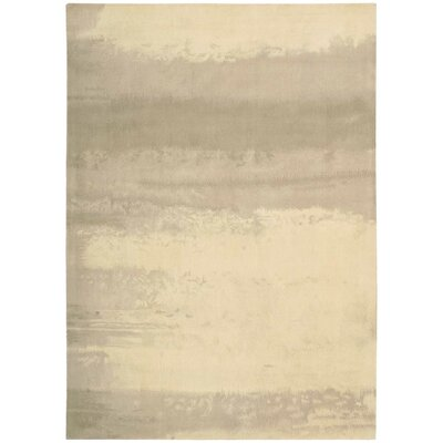 Luster Wash Hand Woven Wool Dune Ivory Area Rug Rug Size: Rectangle 56 x 8