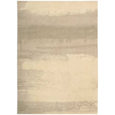 Luster Wash Hand Woven Wool Dune Ivory Area Rug Rug Size: Rectangle 4 x 6