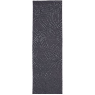Calvin Klein Home Coastal Net Hand-Woven Ink Area Rug Rug Size: Runner 23 x 75