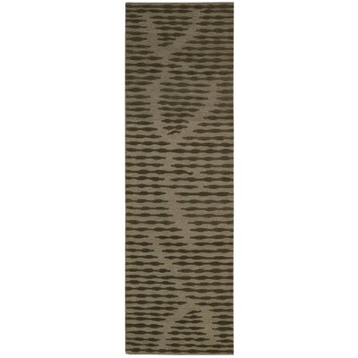 Calvin Home Coastal Cambium Hand-Woven Brown Area Rug Rug Size: Runner 23 x 75