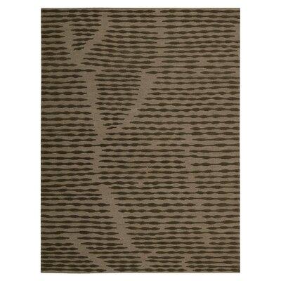 Calvin Home Coastal Cambium Hand-Woven Brown Area Rug Rug Size: Rectangle 96 x 13