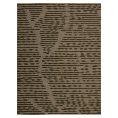 Calvin Home Coastal Cambium Hand-Woven Brown Area Rug Rug Size: 96 x 13
