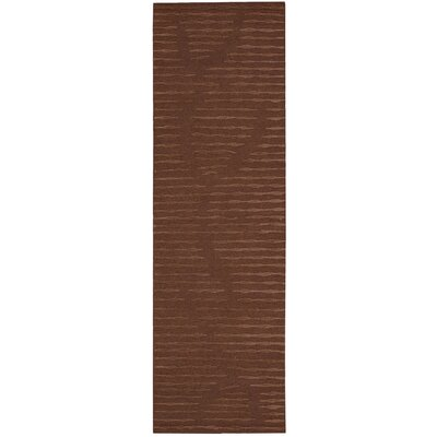 Calvin Klein Home Coastal Cambium Hand-Woven Henna Area Rug Rug Size: Rectangle 96 x 13