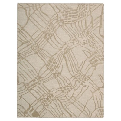 Calvin Klein Home Coastal Net Hand-Woven Tusk Area Rug Rug Size: Rectangle 96 x 13