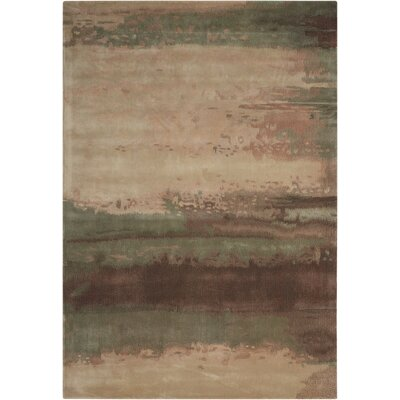 Luster Wash Hand Woven Wool Beryl Wash Light Green Area Rug Rug Size: Rectangle 56 x 8