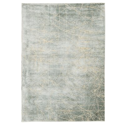 Maya Etched Light Mercury Area Rug Rug Size: 76 x 106