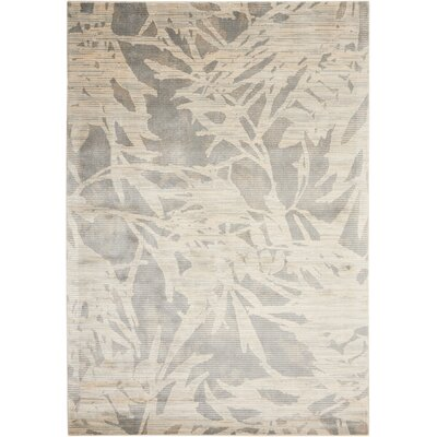 Maya Borneo Zinc Area Rug Rug Size: Rectangle 35 x 55