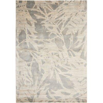 Maya Borneo Zinc Area Rug Rug Size: 35 x 55