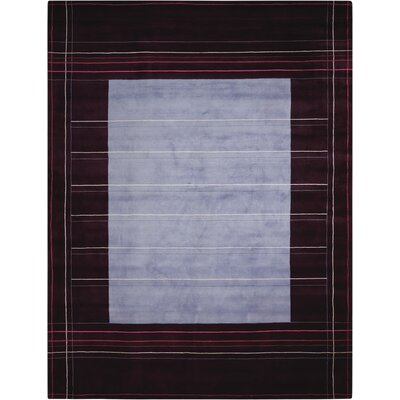 Hand-Knotted Wine/Purple Area Rug